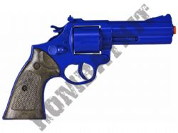 R127 Die-Cast Metal 12 Shot Toy Cap Gun Revolver Police Blue